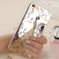 Fall für iphone5 iphone 5 s 5 s se 5se 6 6 p 6 s 6 sp 7 7 p case luxus spiegel mode kopie hard cover phone cases blume coque capinha de