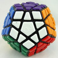 Wholesale Qj Megaminx - QJ Tiled Megaminx(v2) Magic Cube White And Black