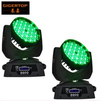 Freeshipping 2XLOT 108 * 3W RGBW Wash LED Moving Head Light 24 red / 28 green / 28 blue / 28 white Edison Led 3W Free Clamp Safety Wire