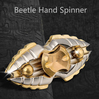 Wholesale Beetle Spins - Creative Egyptian Beetle Hand Spinners Dream Space Fidget Spinner Metal Spinning Top Inception Insect Finger Toys Torqbar #4297
