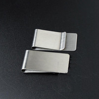 money clip al por mayor-20 UNIDS / LOTE Monedero de Acero Inoxidable Creativo Dinero Clip de Tarjeta de Crédito Money Holder Mens Regalo 26 * 50 * 0.8mm