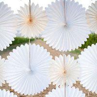 Wholesale Option Fans - Wholesale-30cm=12 inch Tissue Paper fans Flowers pom poms balls lanterns Party Decor Craft Wedding Decoration multi option Wholesale fan