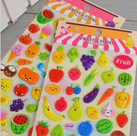 Wholesale Rh Types - Flash music SL - RH fruit expression post diy photo album diary three-dimensional creative bubble decorative stickers