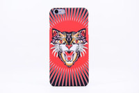 Wholesale hard glow dark case online – custom Brand Animals Lion Wolf Owl Pattern Hard Back Phone Case For iPhone s Plus Glow In The Dark Luminous Forest King pc Case