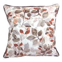 Wholesale Elegant Style Leaves Throw Pillow Case Decorative Soft Square Sofa Cushion Cover x Inch