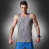 Wholesale Fast Knit - Fitness clothes men's sleeveless vest fast-drying fitness clothing running sportswear