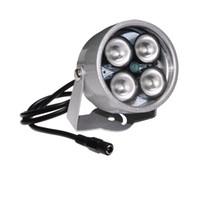 ingrosso ir si illumina-Illuminazione ad alta illuminazione Impermeabile 40 m Riempire Assist 4 Array Night Vision IR a raggi infrarossi IR per telecamera di sicurezza CCTV