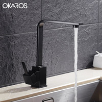 Wholesale Vessel Sinks Stone - Wholesale- OKAROS New Design Kitchen Faucet Quartz Stone Brass Body 360 Degree Rotation Vessel Sink Basin faucet Hot Cold Water Mixer Tap