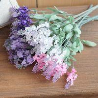 Wholesale Lavender Artificial Flower - 1 PCS Beautiful Artificial Lavender Silk Flowers Home decoration 4 Colors Available F62