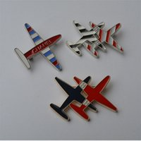 Wholesale Black Pins Brooches - CC Brand Design Fashion Women Plane Brooch Gold Plated Alloy Brooches pins Ladies Scarf Hijab Pins aircraft Broches men women Jewelry