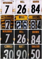 Wholesale mens stitched LeVeon Bell Jersey Ben Roethlisberger Antonio Brown James Conner Ryan Shazier th TJ Watt