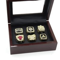 Wholesale 1991 CHICAGO BULL WORLD CHAMPIONSHIP RING RING SET COLLECTION WITH WOODEN BOX