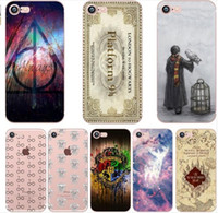 Wholesale Iphone 5c Map - Harry Potter Marauders Soft Clear transparent TPU Case for iPhone X 10 8 7 6 6s Plus 5S 5C Hogwarts Map Words case
