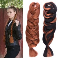 Barato Pc Trança Atacado-Siyusi Synthetic Braiding Hair Wholesale Cheap 84inch 165grams 13 Solid Colors 1 pc lot Premium Ultra Braid Jumbo Braid Hair Extensions