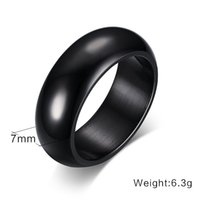 Wholesale wholesale trend ring online - New Simple Fashion Trend Men and Women Jewelry Colors Stainless Steel Smooth Band Ring for Gift