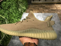 Wholesale Camping Earth - Earth Dark Green V2 DA9572 Boost 350 V2 Real Boost 36-48 us 5-us13 Kanye West sneaker Cp9652 breds,cp9654 zebra with Box