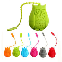 Wholesale Cartoon J - Cartoon Owl Silicone Tea Strainer High Quality Colorful Convenient And Quick Bags Family Necessity Tool Hot Sale 4 3fr J