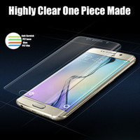 Wholesale Glossy Pet - for Sumsung Galaxy S8 plus 3D thin curved PET SCREEN PROTECTOR full front screen protector color Explosion Proof for galaxy s7 edge