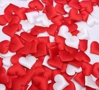 Wholesale Cheap Wedding Confetti - Cheap ! 500pcs Fabric Heart dia 3.5cm Wedding Party Confetti Table Decoration birthday party Decorative Supplies