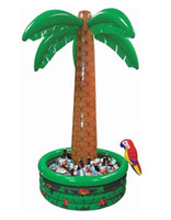 Wholesale 180 cm New Hawaii Series Large Inflatable Coconut palm Tree Drinks Party Decorations Cooler Ice Bucket For Sandbeach KIDS Toys