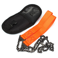 Wholesale Wholesale Chainsaws Chains - Wholesale- Survival Chain Saw Hand ChainSaw Emergency Pocket Gear Chic Camping Tool
