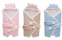 roupa de cama de qualidade venda por atacado-Alta Qualidade Cobertores para Crianças Cobertores Recém-nascidos sacos de Sono Do Bebê Sacos de dormir Berçário Cama Bebê Crianças Moletom Com Capuz Swadding Fleeces Livre