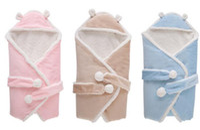 Wholesale Kids Cashmere Hoodies - High Quality Children's Blankets Newborn Blankets Baby Sleep bags Sleeping sacks Nursery Bedding Baby Kids Hoodie Swadding Fleeces Free