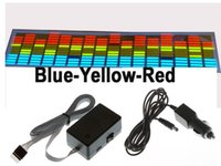70 * 16cm BLUE Giallo Rosso Fresco El Car Sticker Car Decorazione Lunga Durata Accessori EL Sticker DC12v Inverter con sigaretta