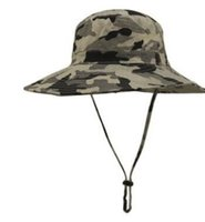 Wholesale Camouflage Hunting Hat - 2017 Summer Style Outdoor cap Men Women Camouflage Fishing Hat Bucket Gorras Fisherman Carp Fishing Cap