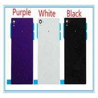 Wholesale Xperia Z1 Battery - DHL Shipping 100pcs New Replacement For Sony Xperia Z1 L39H C6902 C6903 Back Glass Battery Door Housing Rear Back Cover Spare Parts White