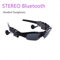 Wholesale Bluetooth Headphones Sunglasses - Bluetooth Sunglasses Sports Wireless headphone heasset with Stereo Music earbuds Phone Calling for any phone