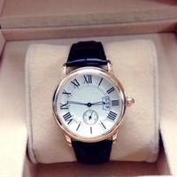 Wholesale Calibre Brown - 2017 Famous Luxury Watches Men Watch Leather strap calendar calibre Business Sport AAA Quartz Wristwatches for Men Women Unisex Relojes
