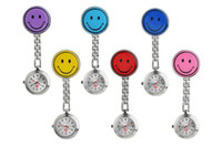 Wholesale Nurse Smiling Face Pocket Watch - Nurse Watches Smiling Face Luminous Watch Smile Metal Watch Doctor Medical Iron Clip Clock Pocket Watch
