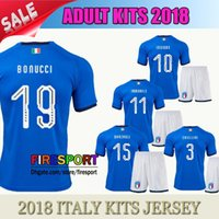 Wholesale Russia Soccer - 2018 Italy Adult kits soccer Jersey 17-18 WC national team Russia CHIELLINI EL SHAARAWY BONUCCI INSIGNE IMMOBILE Verratti FOOTBALL SHIRTS