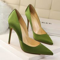 Wholesale Black Thick High Heel Pumps - New 2017 Atumn Spring Women Thick Pumps Retro Fashion Comfortable Pointed High-heeled Shoes Female Single High Heels Shoes A17011904