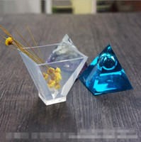 Wholesale Pyramid Mold - Pyramid Silicone Mould DIY Resin Decorative Craft Jewelry Making Mold Free Shipping