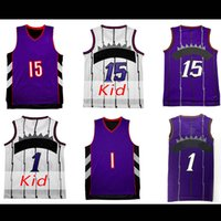 Wholesale Mcgrady S - Men's Mesh #1Tracy McGrady Jersey toronto #15 Vince Carter Jersey Youth #15 Vince Carter Jersey 100% stitched Embroidery Logos Free Shipping
