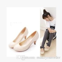 Wholesale Low Price Work Dresses - wholesaler free shipping factory price hot seller women's shoes large size round nose working shoe dress wedding bride shoe 261