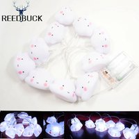 Wholesale Lovely Cartoon Desk Lamp - Wholesale- Super Cute Led Nightlights 10 Pcs Lovely Smiley Face Cloud String Kids Pillow Holiday Decoration Desk Table LED Lamp With Remote