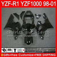 Wholesale yamaha r1 98 99 fairing for sale - 8Gift Color Body For YAMAHA YZF1000 YZFR1 YZF R1000 gloss black HM1 YZF R YZF R1 YZF R1 Fairing