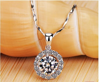 Wholesale Diamond Halo - Luxury quality 2 Ct SONA Synthetic Gem Halo Pendant Necklaces! Statement Necklace,Necklace 2017,choker