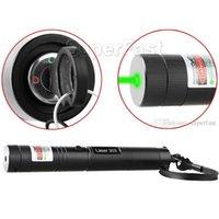 Wholesale Green Laser Retail - High Power Laser Pen 303 532nm Green Laser Pointer Pen Adjustable Focus Burning Matchs laser light In Retail box 100pcs DHL Free Shipping