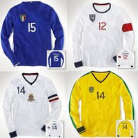 Wholesale England Flag T Shirt Men - Men Cotton Solid Polo Long Sleeve Shirts Sports T Shirts Embroidery Small Horse Logo Plus Size USA American Flag Italy England Brazil Shirts