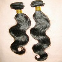 Wholesale Shop Wholesale Hair Color - Impressed Happy Shopping 200g lot Body Wave Peruvian Human Hair Extensions Silky Sleek weaves