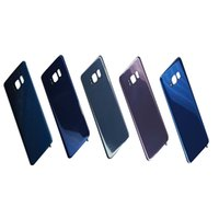 Wholesale Flip Door - Original Battery Door Back Housing Cover Glass Cover for Samsung Galaxy S8 G950 G950P S8 Plus G955P with Adhesive Sticker free shipping