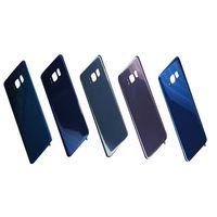 задний корпус samsung оптовых-Оригинальный аккумулятор Дверь задняя крышка корпуса стеклянная крышка для Samsung Galaxy S8 G950 G950P S8 Plus G955P с клейкой наклейкой бесплатная доставка