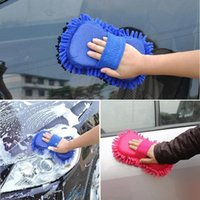 Wholesale- 2017 Gants de lavage de véhicules neufs Sponge Microfiber Towel Duster Home Clean Brush Car Styling