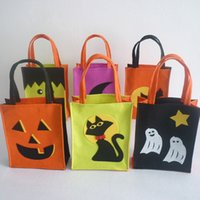 Wholesale Loot Kids Gift Bags - 6pcs lot Halloween Tote Bag Childrens Kids Festival Gifts Bag Halloween Bag Gift Party Loot Trick Treats Sweets Candy PDK0013