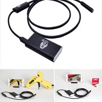 Wholesale endoscope camera wireless - 8mm HD 720P Wifi Wireless Endoscope with 1m Cable Borescope Waterproof Inspection Snake Camera for IOS Android Windows PC