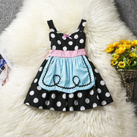 Wholesale American Alice - Wholesale halloween babies party dress Alice cartoon baby girl prom dress infant toddler tutu skirts dots printed kids sundress